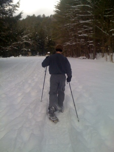 Dedrich's first snowshoe experience
