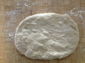 form the dough ball into the best rectangle you can get